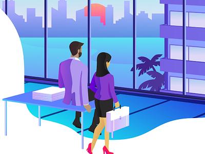 StartUp Miami ui graphic design design vector illustration