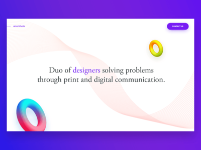 Homepage exploration arno and lucie colors shape 3d try website homepage exploration