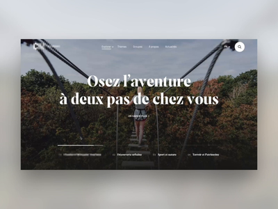 Tourism website - animation hero slider