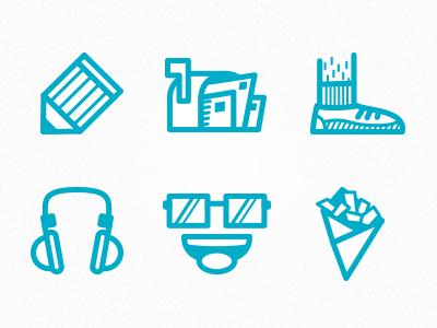 Icons new Portfolio icons portfolio blue