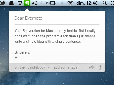 Dear Evernote evernote quick tooltip toolbar
