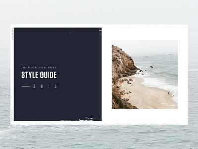 JO Branding equipment recreation design 2018 outdoors johnson brand print ui branding guide style