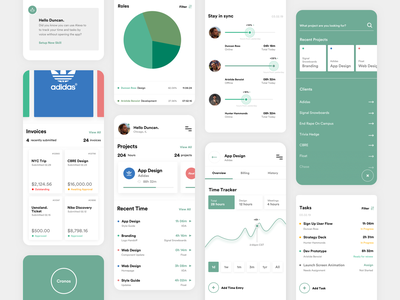 Remote Working App sketch app concept cronos minimal app design time tracker dashboad icon infographic elements mobile interface vector interaction colors typography search profile green remote working ui ux design product