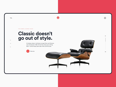 Herman Miller prd grid style classic aesthetic crispy user interface sketch everest minimal red motion design ae principle concept eames lounge chair herman miller design