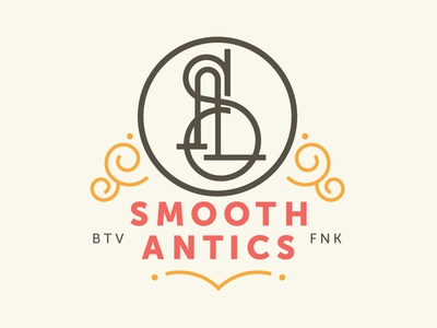Smooth Antics music identity design typography type custom branding lettering monogram logo
