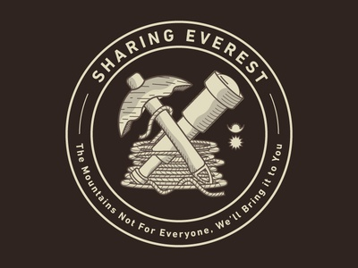 Sharing Everest Patch climb hike outdoors badge patch identity design branding logo