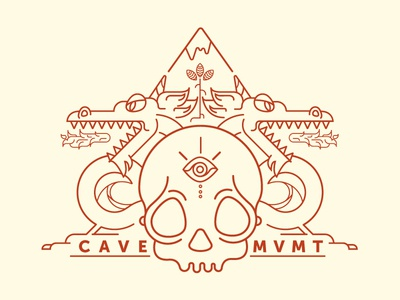 Cave Movement branding design illustration logo line art