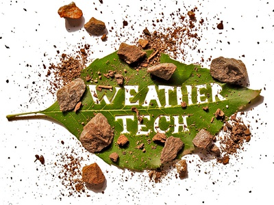 Weather Tech identity design exacto typography type custom branding lettering hand lettering logo