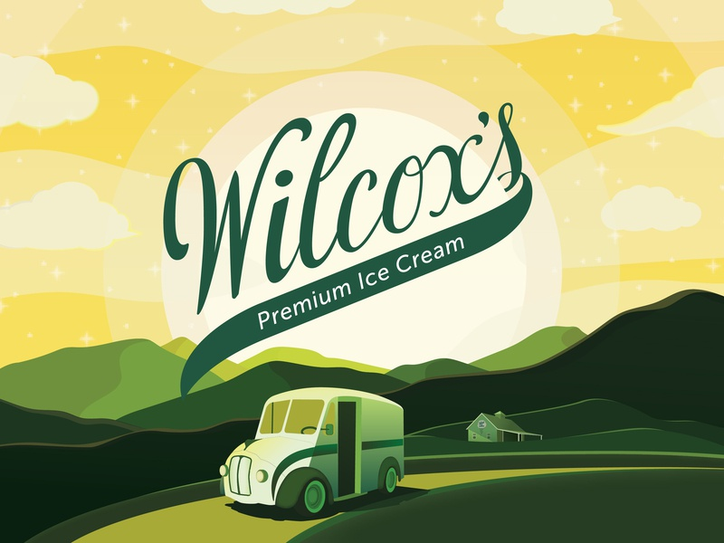 Vermont's Original Ice Cream vector typography type lettering illustration identity design