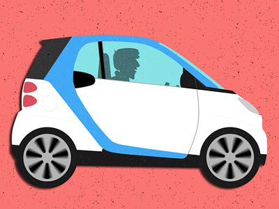 that's smart vroom illustration flat car2go smartcar