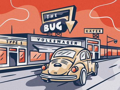 B U G  2 . 0 bug beetle colour icon design adobe illustrator adobe cc adobe illustration illustrator commercial volkswagen vw