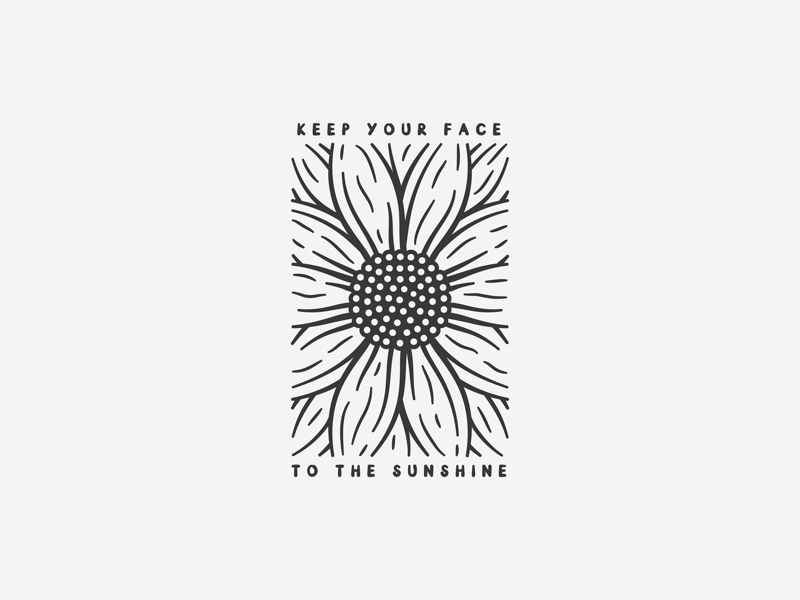 Sunflower Sunshine type adobe illustrator illustrator design adobe illustration icon plant flower quote sunshine sun sunflower