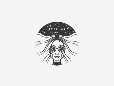 Stellar face icon designer design illustrator adobe illustration portrait stars stellar