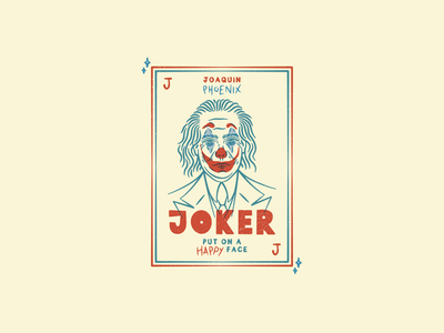 Put on a Happy face font put on a happy face joaquin phoenix design designer adobe illustrator portrait type typography poster movie poster joker movie joker