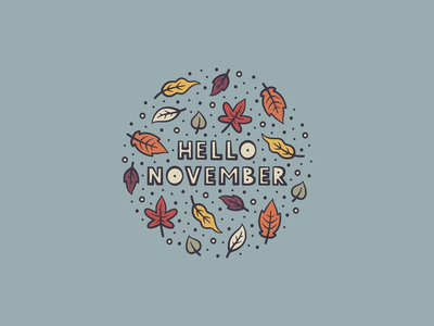 November palette colour lock up iconography adobe illustrator illustrator type typography adobe illustration icon fall leaves autumn november