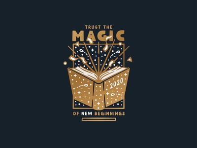 2 0 2 0 type typography reading book adobe illustrator illustration designer adobe illustrator design magic iconography icon new beginnings new year nye 2020