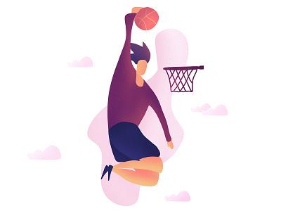 Slam Dunk graphic design slam dunk basketball illustration digital arts character