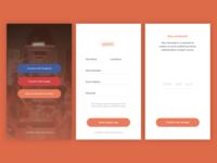 Sign Up App Screens