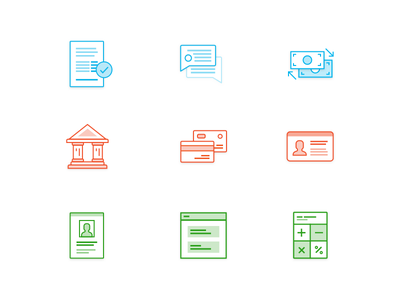 More Finance Icons! document bank finance icon
