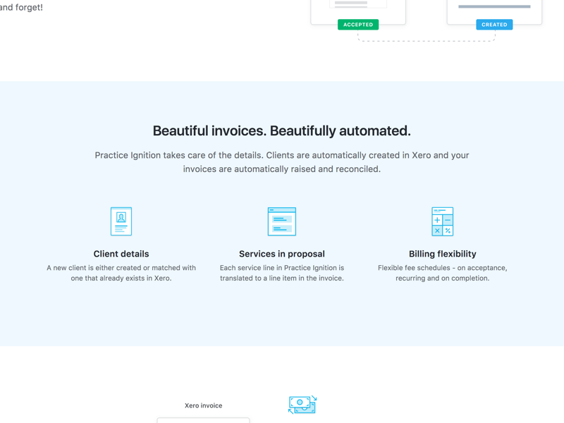 Xero Integration Landing Page by George Hatzis on Dribbble