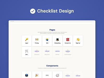 Introducing Checklist Design checklist minimal clean desktop ui ux design tool