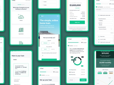 Yard - Website and Product (Mobile) website green product fintech minimal ui app finance clean mobile app design mobile app ios mobile