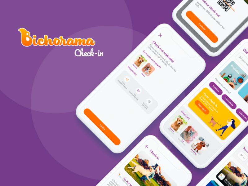 Bichorama - Check-in petshop pet care pet app pet adoption pet bichorama bicho ux mobile design mobile app mobile design app
