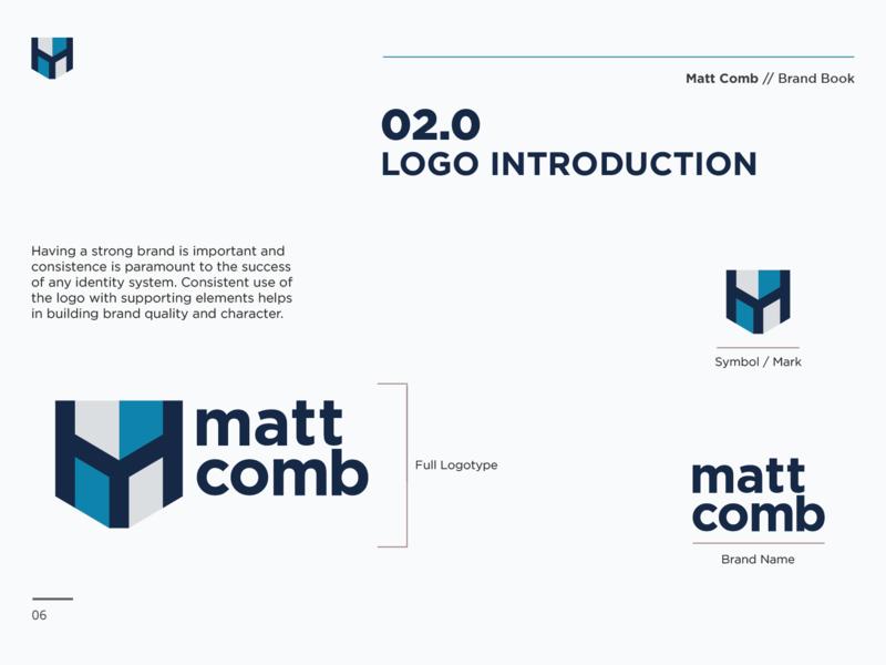 Matt Comb Brand Book brands symbols icon color palette brand design personal brand identity brand identity design illustration logo design graphic brand and identity branding