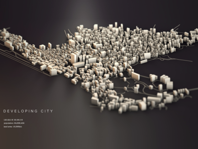 developing city by c4d