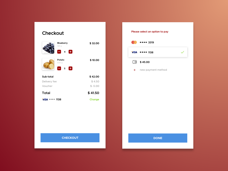 Daily UI #002 - Credit Card Checkout uiux