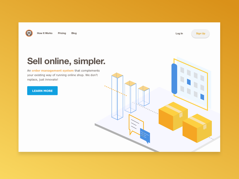 Daily UI #003 - Landing Page uiux