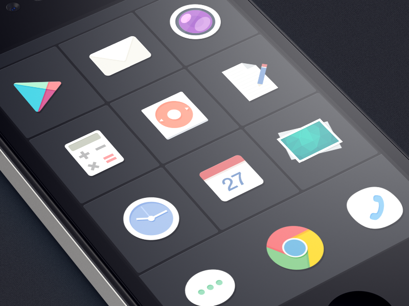 Flat icons of SmartisanOS (jff) smartisan theme flat style app screen android rom 罗永浩 锤子 icons