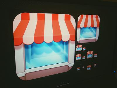 Josephine's Shop josephine shop icon app ios design window orange buy sell glass ray