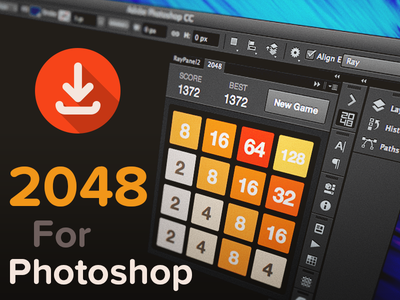 2048 For Photoshop 2048 photoshop extension plugin plug-in panel ps game puzzle