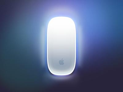 Magic Mouse With LED magic mouse led apple hardware light glow bluetooth device concept mac icon