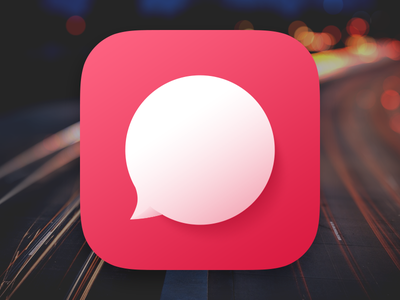 Chat Bubble App Icon chat bubble app icon ios flat talk im message skeu