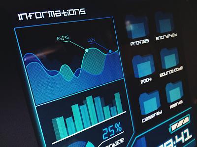 Fake UI fake ui movie dark analytics status hack hacker information data classified