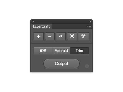 LayerCraft Photoshop Panel UI Design photoshop plugin addon panel slice assets layer ps script action freebie download