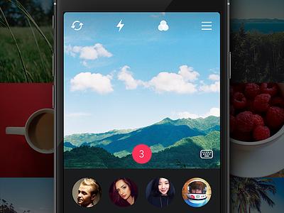 CatchChat catchchat ios app camera toolbar avatar photo filter icons menu