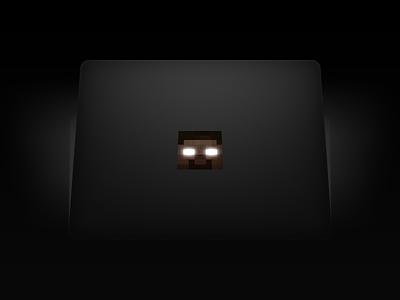 MacBook Herobrine Sticker #Minecraft macbook herobrine sticker mac minecraft him