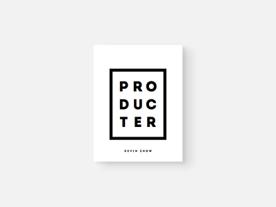 P R O D U C T E R cover book producter