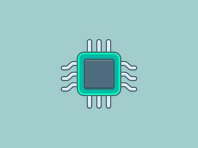 CPU heart internet tech processor sketch computer cpu