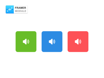 UISound Module for FramerJS opensource github coffeescript code prototype button framer framerjs for module sound ui