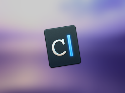 Caret App Icon Replacement code writer type editor markdown redesign osx replacement icns icon app mac