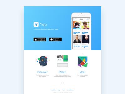 Yep Landing Page app homepage appstore ios download page landing website yep