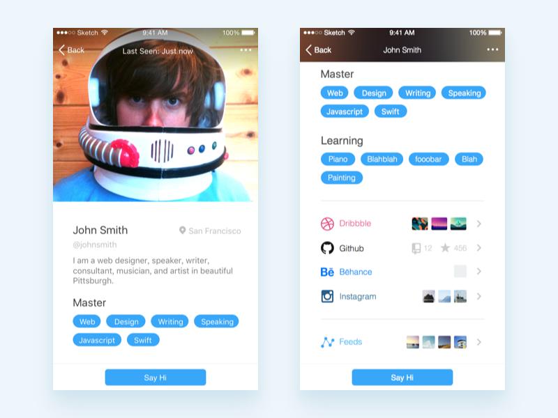 Yep - A Community Where Geniuses Meet design tag avatar profile social app ios genius yep