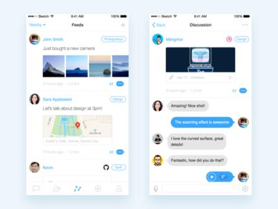 Yep - A Community Where Geniuses Meet yep message bubble chat photos timeline feed social app ios