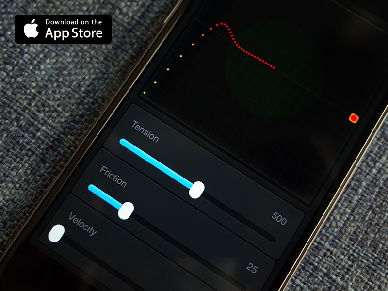 Spring Visualizer 1.1 visualizer ui tool spring slider framerjs framer curve bounce animation animate