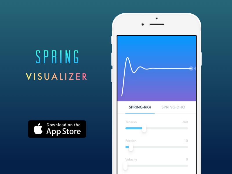 Spring Visualizer 2.0 visualizer ui tool spring slider framerjs framer curve bounce animation animate