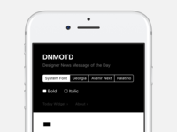 DNMOTD - Designer News Message of The Day